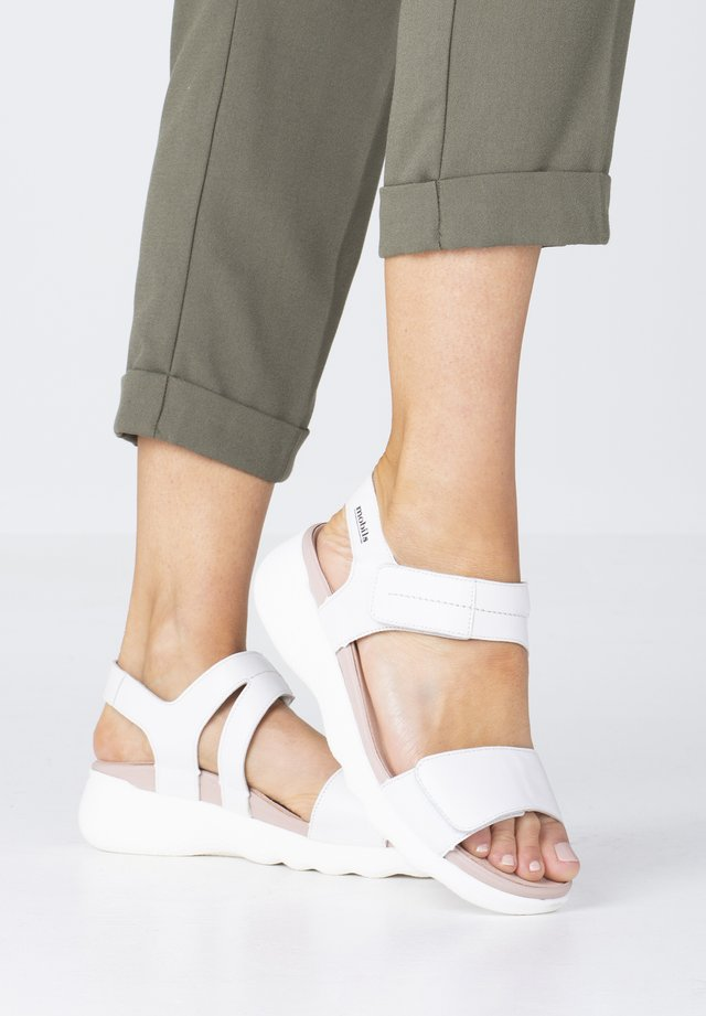 Walking sandals - white