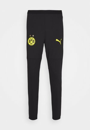 BVB BORUSSIA DORTMUND TRAINING PANTS - Club wear - black