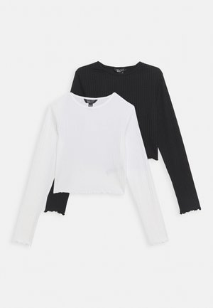 Long sleeved top - cream, black