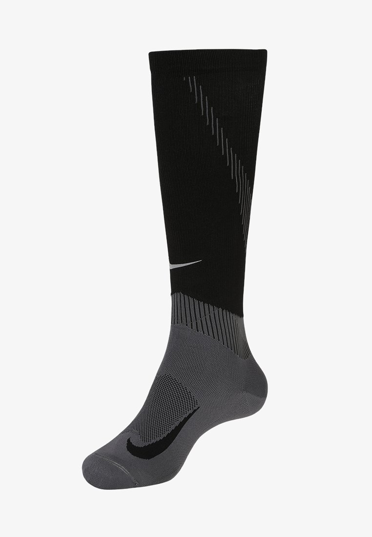 Nike Performance - ELITE COMPRESSION OVER THE CALF RUNNING  - Knee high socks - black/dark grey