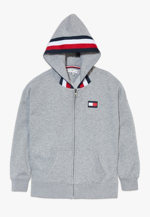 GLOBAL STRIPE DETAIL - Mikina na zip - grey