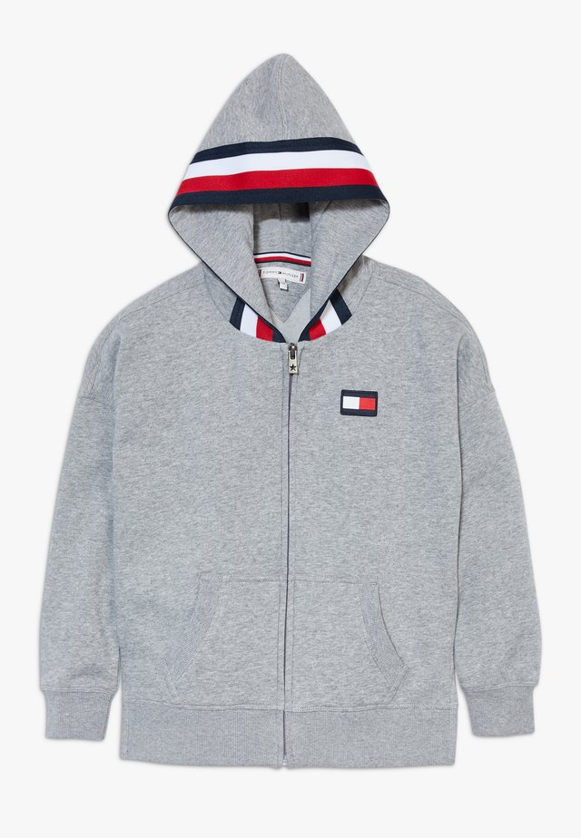 GLOBAL STRIPE DETAIL - veste en sweat zippée - grey