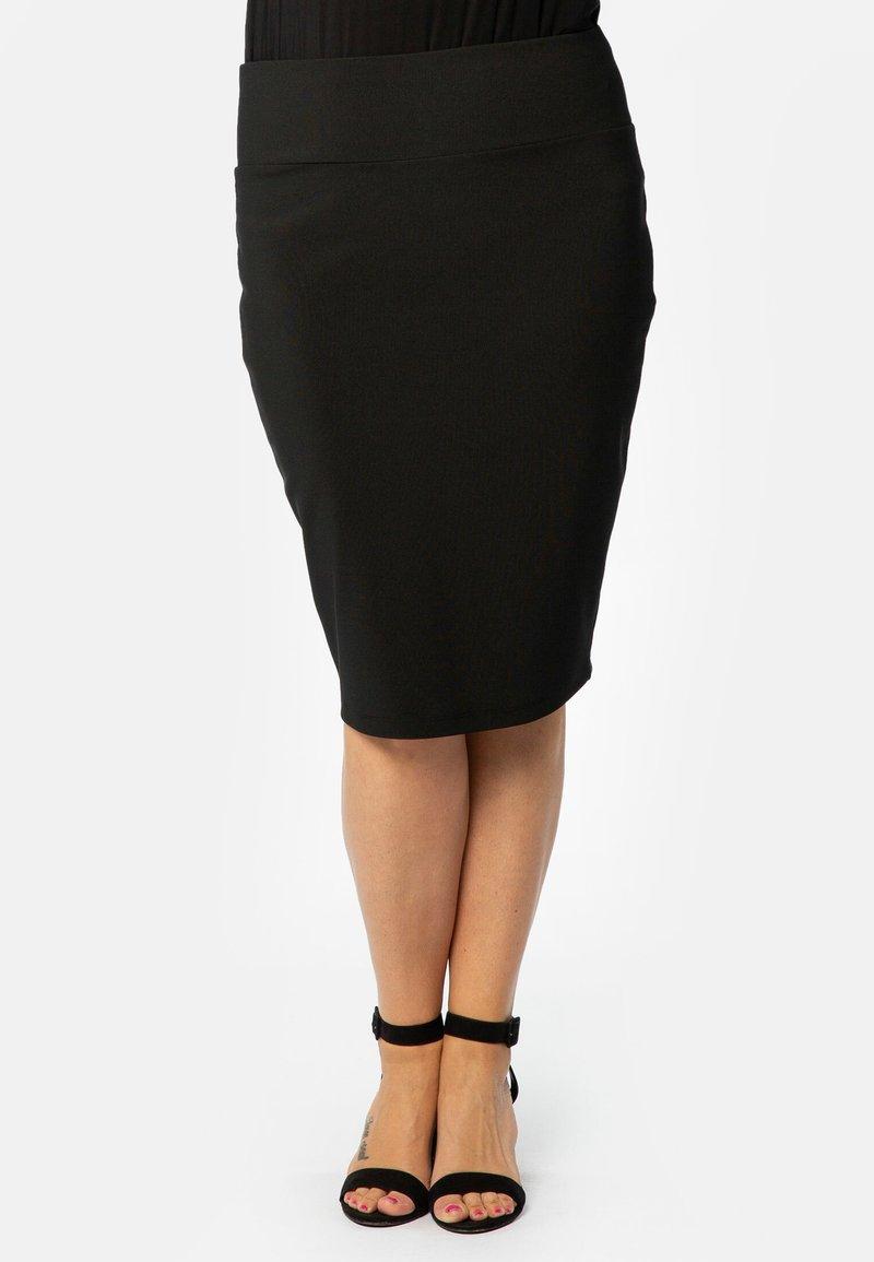 Yoek - JUPE BASIS - Pencil skirt - black