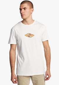 Quiksilver - EITHER WAY  - Print T-shirt - snow white - 3