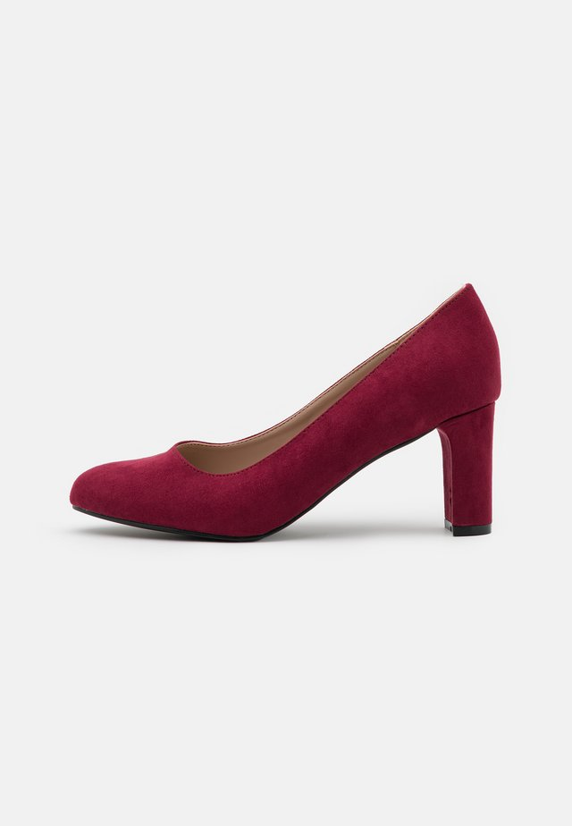 WIDE FIT DENVER ROUND TOE - Klassiske pumps - oxblood