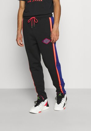 PANT - Jogginghose - black/deep royal blue/track red
