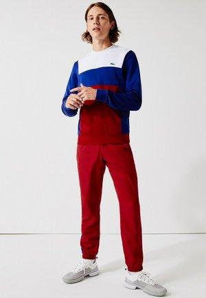 TENNIS BLOCK - Sweatshirt - blanc / bleu / rouge / blanc / bleu