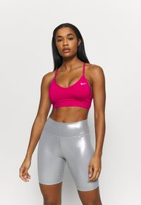 Nike Performance - INDY  - Sport-BH med lätt stöd - fireberry/white - 0