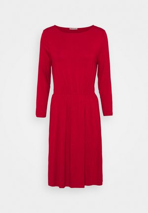 Mini waisted basic dress - Jersey dress - red