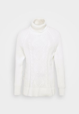 CABLE TURTLENECK - Stickad tröja - snowflake milk
