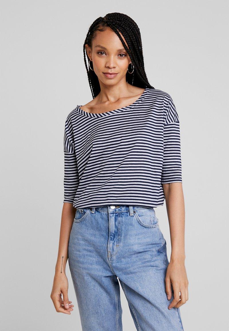 G-Star - VIM LOOSE - Print T-shirt - grey htr/mazarine blue stripe