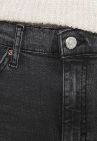 Topshop - JAMIE FLARE - Flared Jeans - washed black - 5