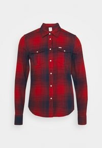 Lee - REGULAR WESTERN SHIRT - Button-down blouse - red ochre
