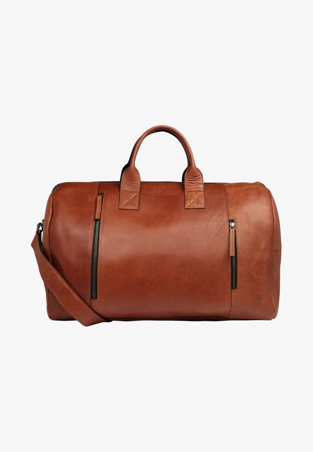 CLEAN BAG - Weekend bag - cognac