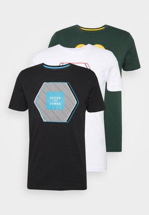 JCOBOOSTER TEE 3-PACK - T-Shirt print - white/black/darkes