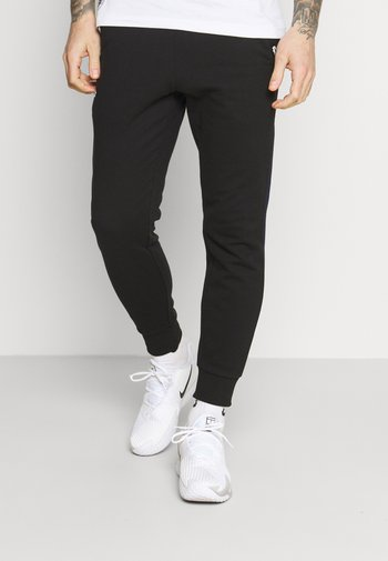 PANT TAPERED - Verryttelyhousut - black/navy blue