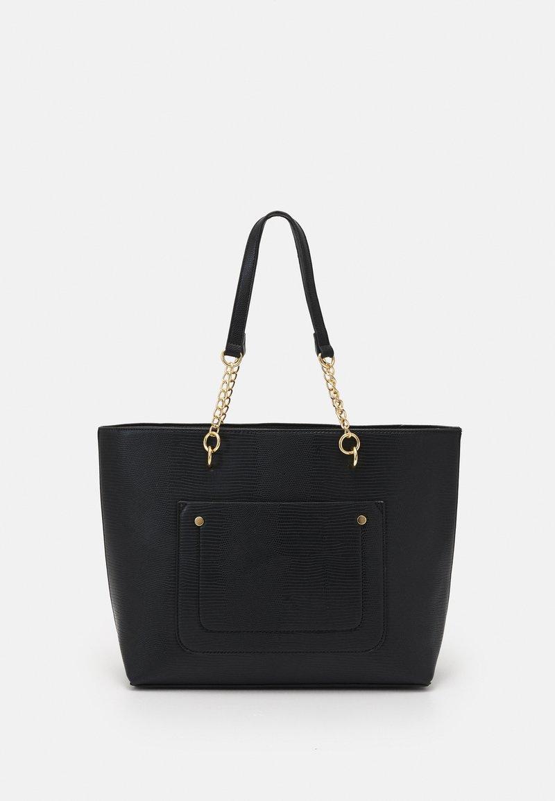 Dorothy Perkins - SLIP POCKET CHAIN HANDLE - Handbag - black lizard