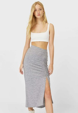 GERAFFTER - Pencil skirt - grey