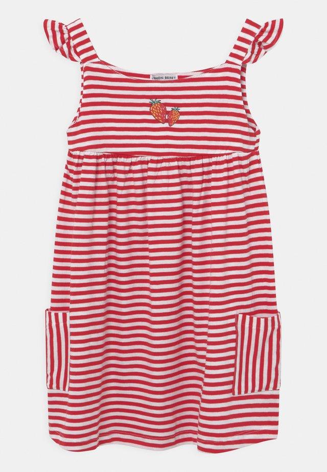 GIRLS  - Jersey dress - tomato puree