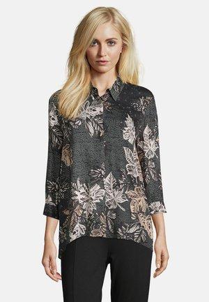 Button-down blouse - black/stone