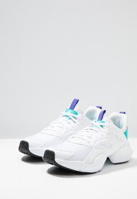 Reebok - SOLE FURY ADAPT - Neutral running shoes - white/solid teal/ultra purple - 2