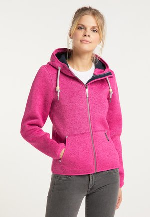 Fleece jacket - pink melange