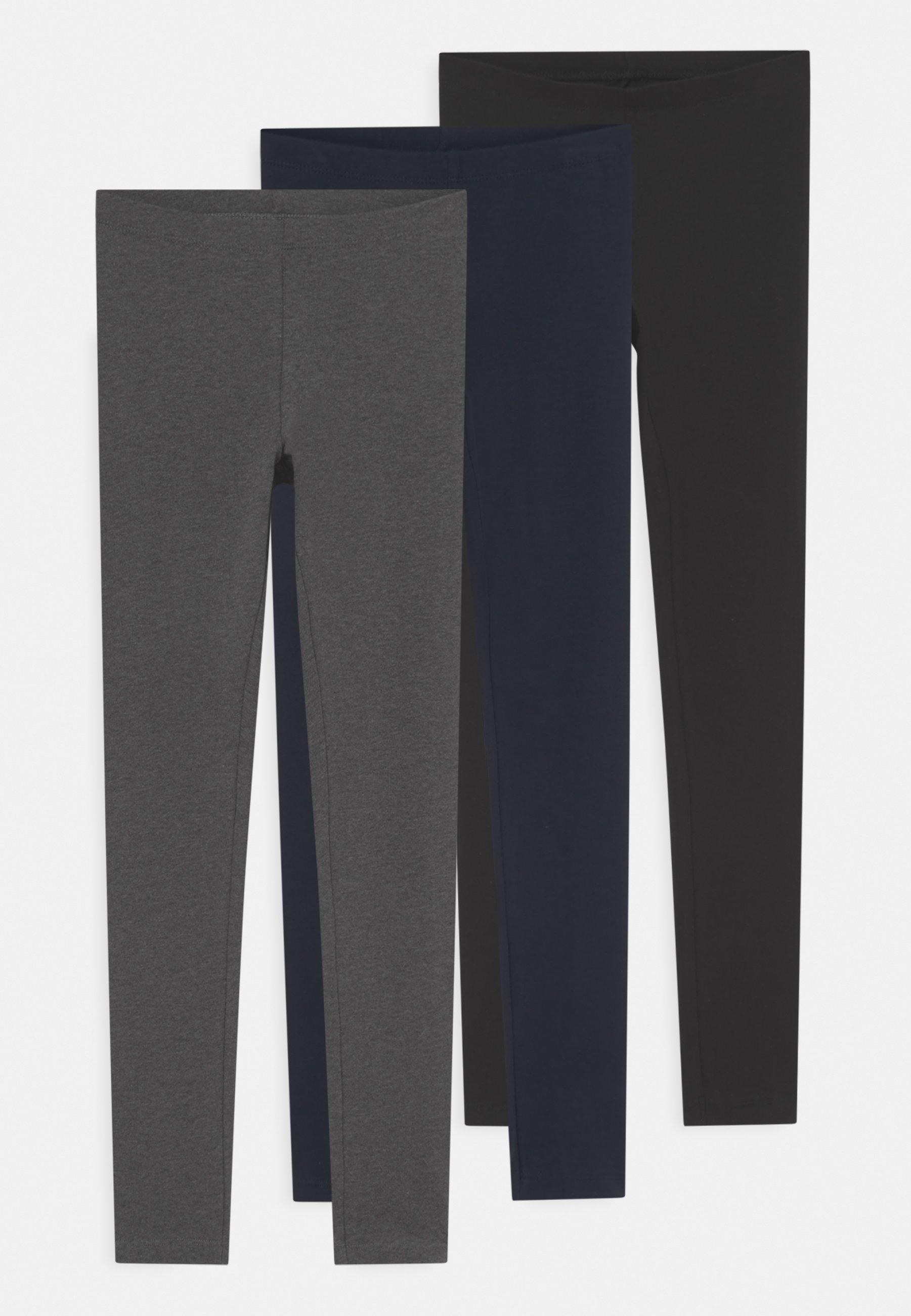 Kids NKFVIVIAN SOLID 3 PACK - Leggings - Trousers