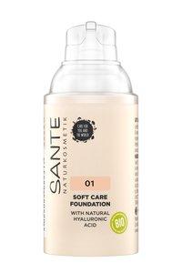 Sante - SOFT CARE FOUNDATION - Foundation - 01 warm linen - 1
