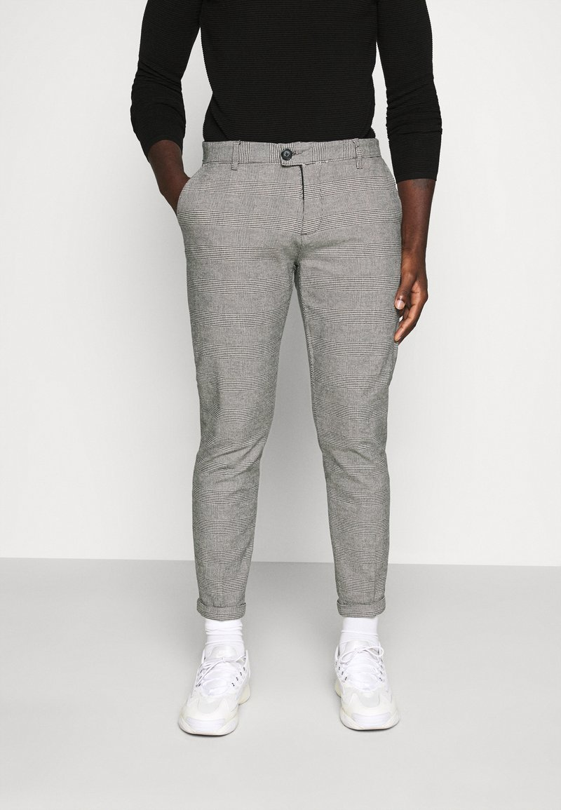 Redefined Rebel - ERCAN PANTS - Pantalon classique - grey check