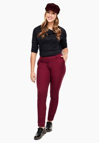 Triangle - BROEK - Trousers - dark pink - 1