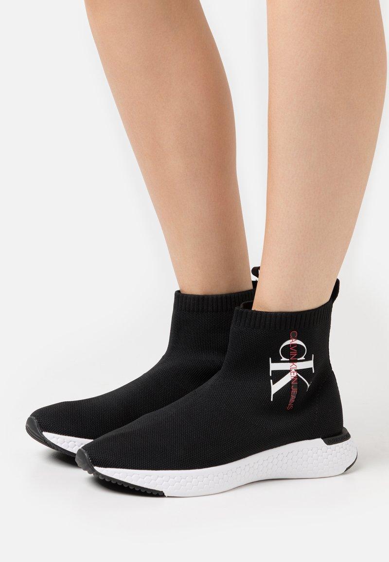 Calvin Klein Jeans - ADALEA - High-top trainers - black