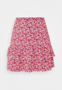Miss Selfridge - FLORAL MINI SKIRT - A-line skirt - pink - 0