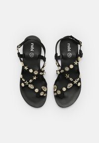 Rubi Shoes by Cotton On - TYRA MULTI STRAP - Sandals - black/ gold - 4