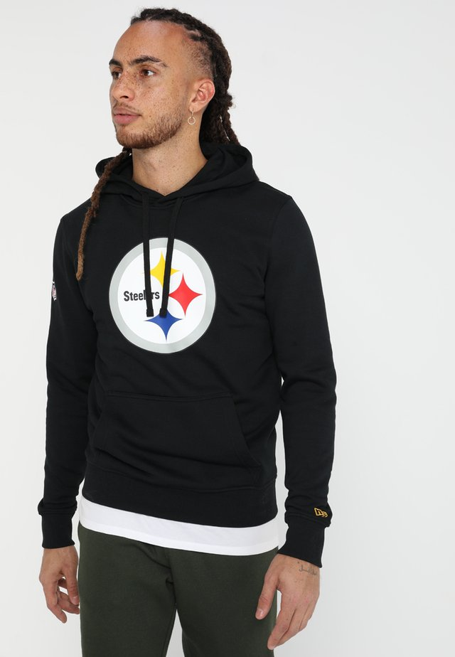 NFL PITTSBURGH STEELERS LOGO HERREN - Sweat à capuche - black