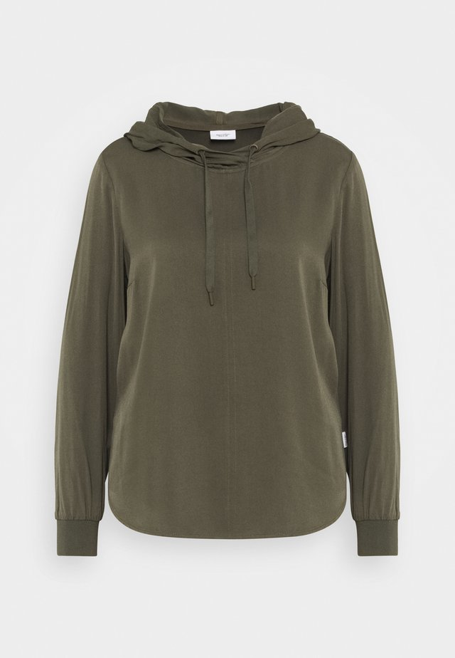 BLOUSE HOODED - Huppari - utility olive