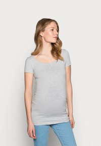 Anna Field MAMA - 3 PACK - T-shirt basic - light grey/blue/dark blue - 1