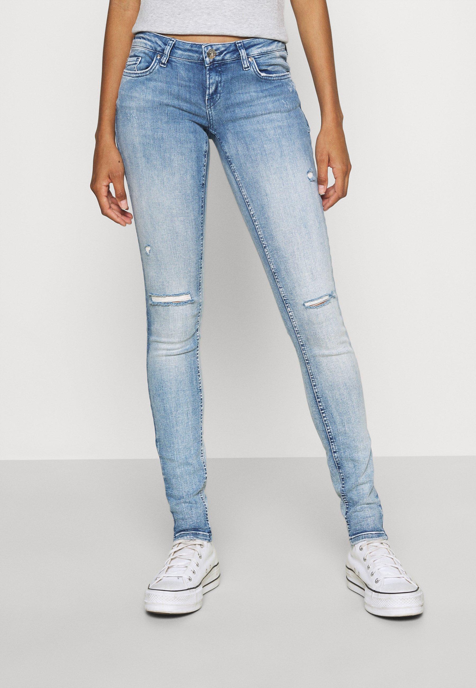 Damen ONLCORAL SUPER LOW HEM - Jeans Skinny Fit
