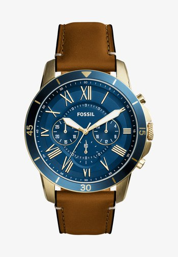 Chronograph watch - hellbraun