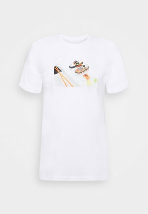 TEE FOOD SHOESHI - Print T-shirt - white