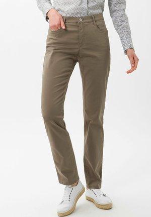 STYLE CAROLA - Straight leg jeans - khaki