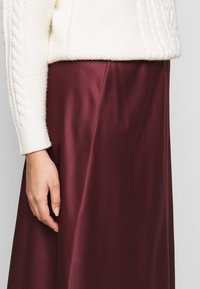 CAPSULE by Simply Be - COLUMN MIDI SKIRT - A-line skirt - merlot - 5