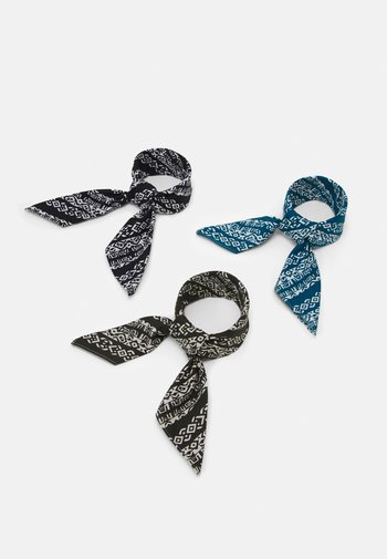 BANDANAS 3 PACK UNISEX - Skjerf - black/khaki/blue