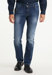 Pioneer Authentic Jeans - STAN - STRAIGHT FIT - Straight leg jeans - stone used - 0