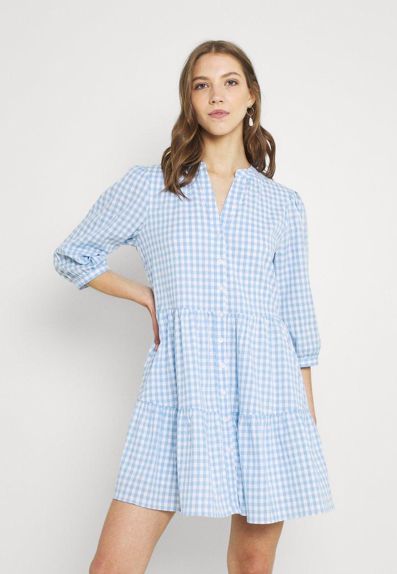 Forever New - GINA GINGHAM SMOCK DRESS - Shirt dress - pale blue