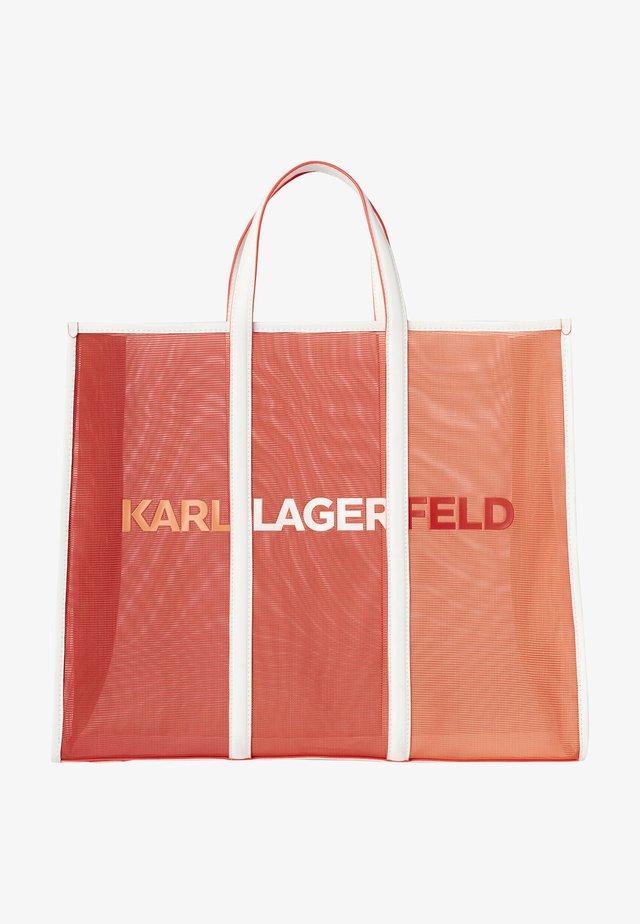Shopping bags - tangerine