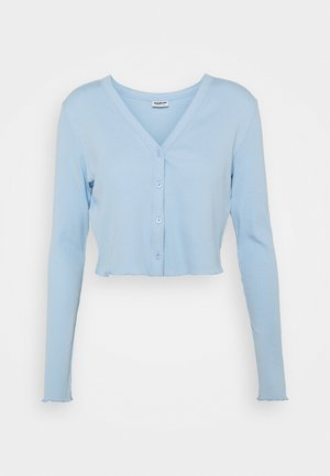 NMDRAKEY CROPPED CARDIGAN - Kofta - chambray blue
