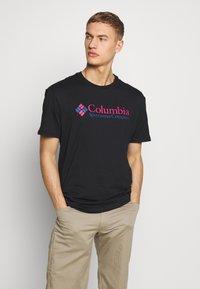 Columbia - BASIC LOGO SHORT SLEEVE - T-shirt imprimé - black icon - 0