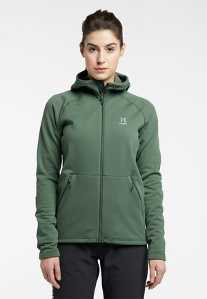 BUNGY HOOD - Fleece jacket - fjell green