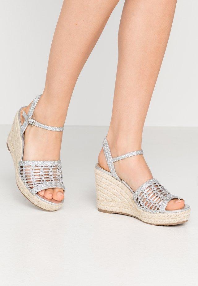 SWIRLY - High heeled sandals - silver