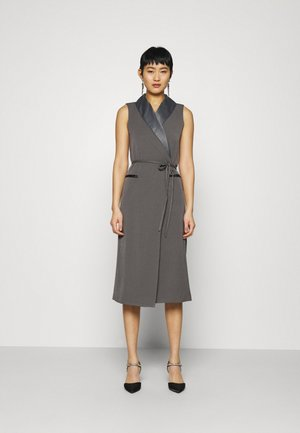 TUXEDO WRAP DRESS - Cocktail dress / Party dress - slate